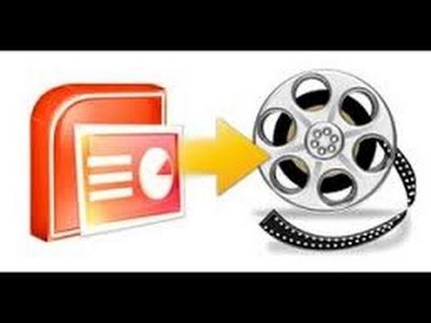 تحويل البوربوينت لفيديو