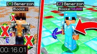 MINING over 2,000 BLOCKS in UNDER 30 SECONDS | Minecraft OP Prisons #3 (Minecraft Prison Escape)