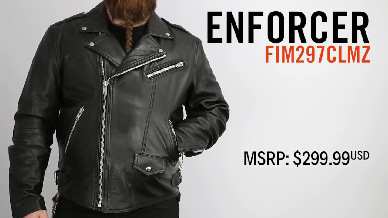3dbcdc03b First Manufacturing Enforcer Leather Jacket