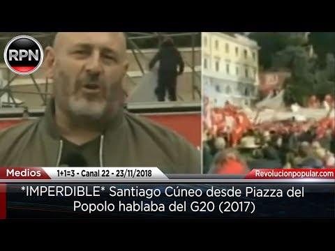 *IMPERDIBLE* Santiago Cúneo desde Piazza del Popolo hablaba del G20 (2017)
