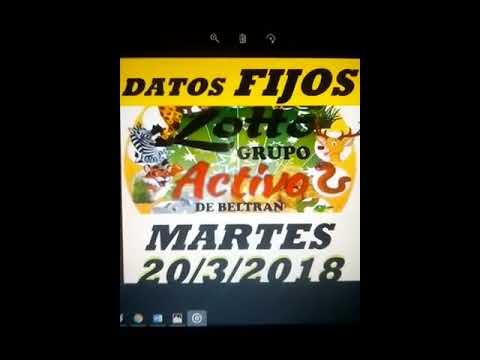 DATOS FIJOS DE LOTTO ACTIVO Y LA GRANJITA 20/3/2018 BELTRAN