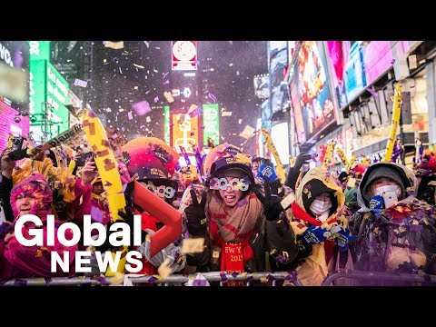 New York City rings in the New Year with the ball drop in Times Square Mp3
