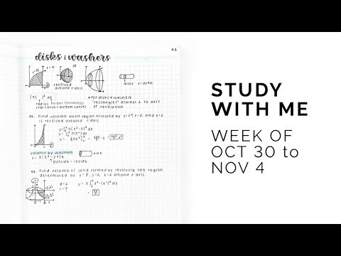 Study With Me: October 30 to November 4, 2018
