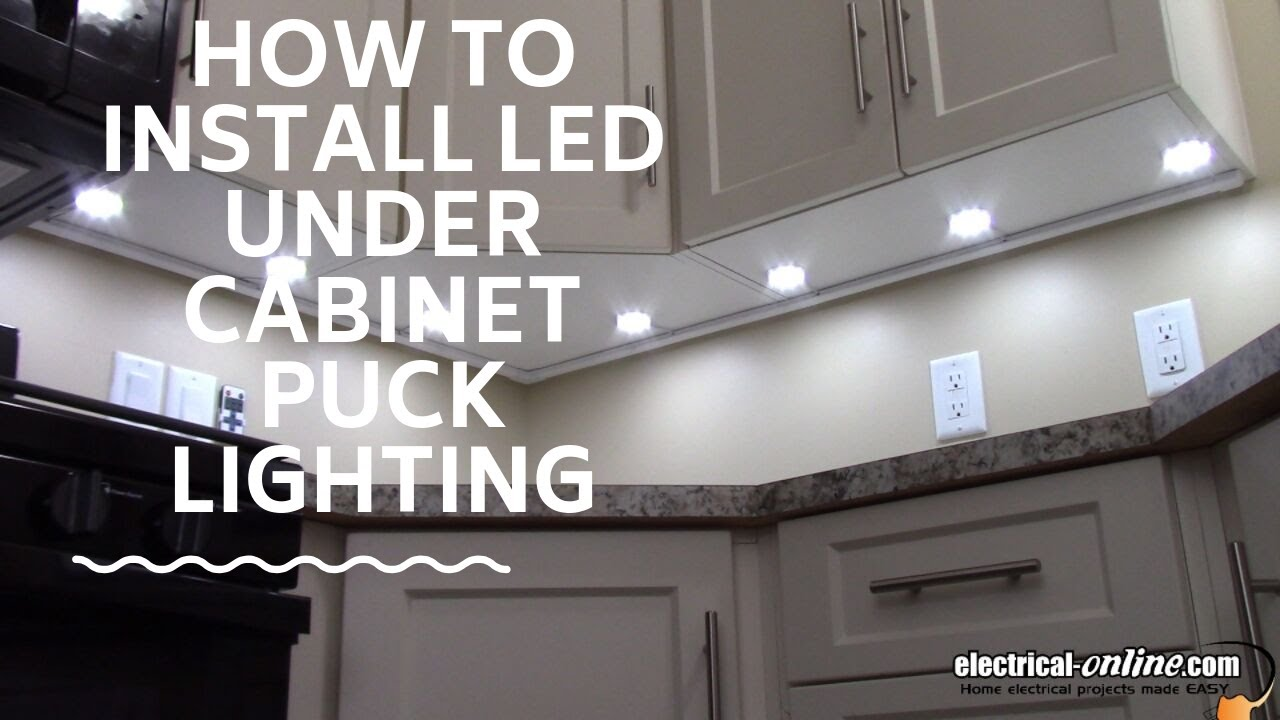 How To Install Under Cabinet Led Puck Lighting Youtube