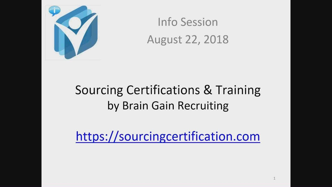 Info Session Sourcing Certifications Training Solutions By Brain