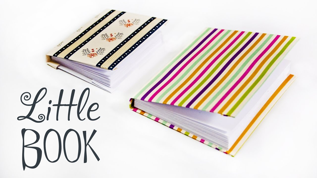 How To Make A Book Cover Out Of Construction Paper : How to make a paper little book diy