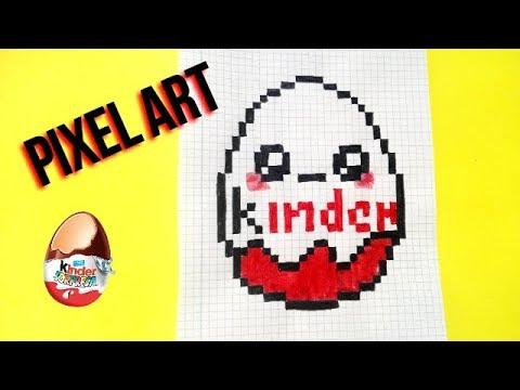 Draw Handmade Pixel Art Como Dibujar Huevo Kinder Kawaii