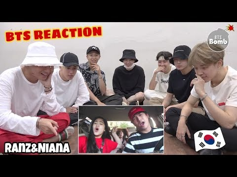 BTS [방탄소년단] REACTION TO RANZ AND NIANA CARPOOL VIDEO (Thank You, Next) By Ariana Grande