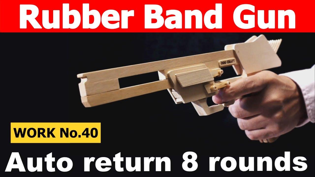 Auto Return 8 Rounds Rubber Band Hand Gun Oggcraft Jp