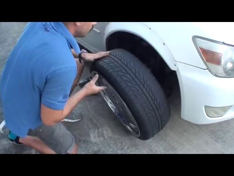 How to Change a  tire and paint calipers