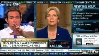 Elizabeth Warren Schools CNBC Talking Heads!