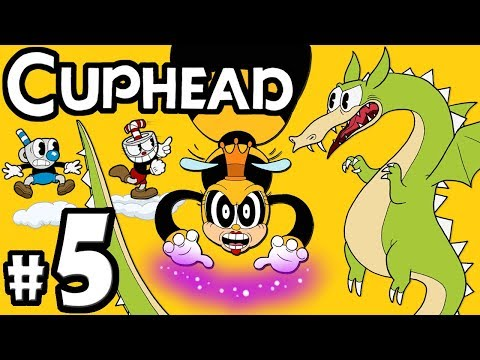 "CUPHEAD + Mugman - 2 Player Co-Op! - Gameplay Walkthrough PART 5: ""Today on Dragon Brawl Bee!"""
