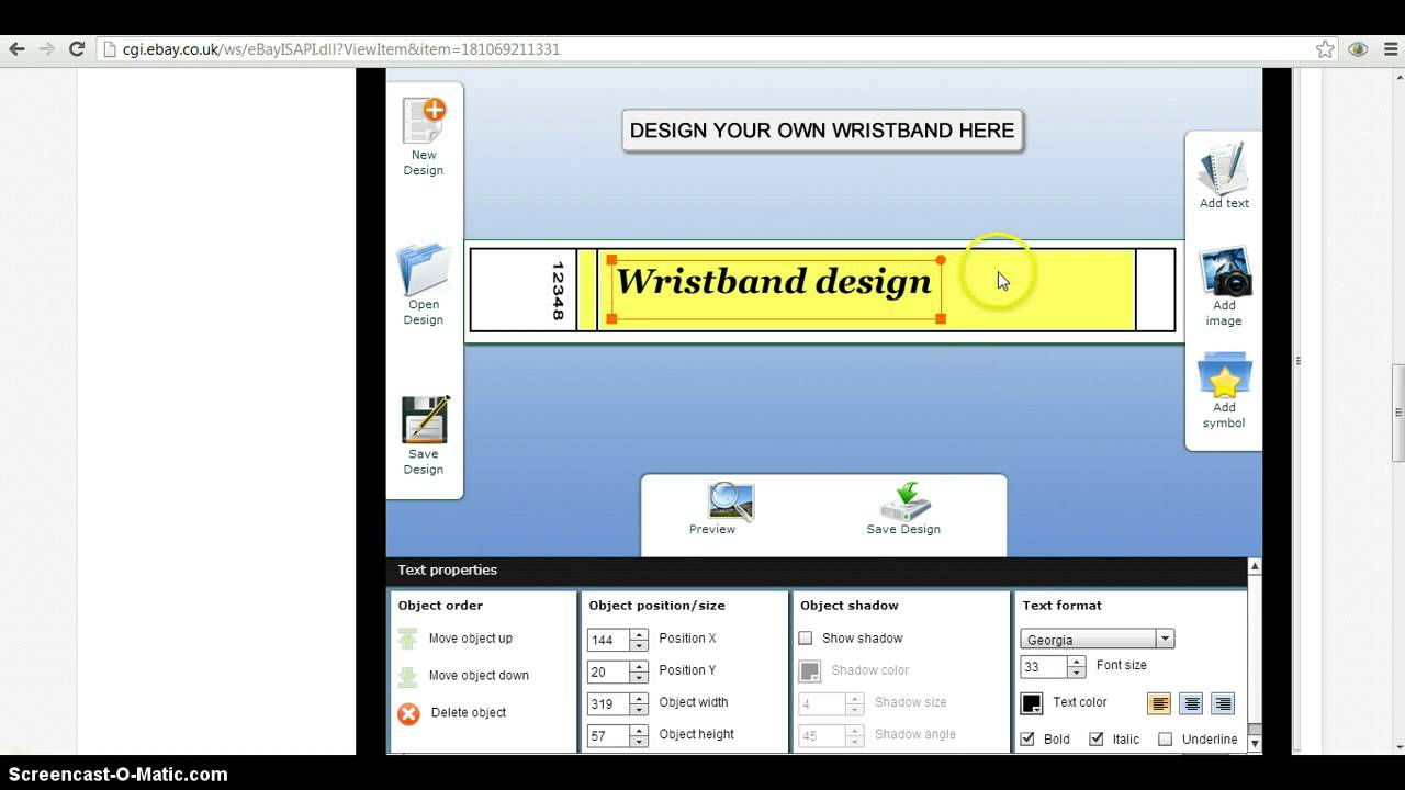 wristband template microsoft word