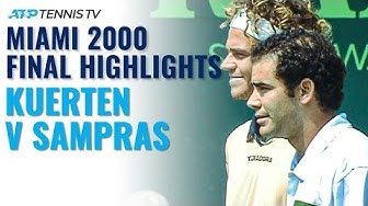 Gustavo Kuerten vs Pete Sampras: Classic Tennis Highlights | Miami 2000 Final