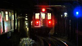 IRT Eastern Parkway Line: R142A & R142 4 Trains at Nevins St-Flatbush Ave (PM Rush Hour)