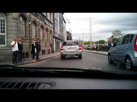 Driving around Dublin City Dash cam