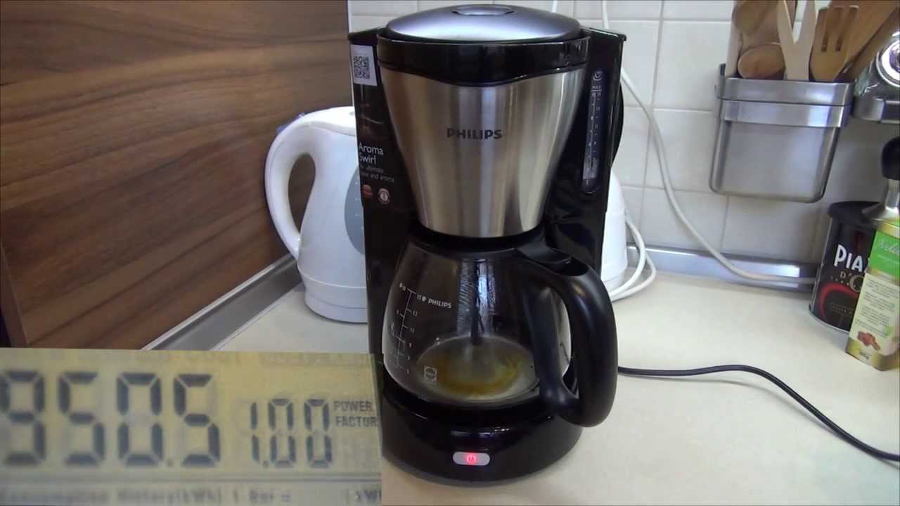Philips Coffee Maker Hd 7546/20 : Philips HD 7566/20 Coffee Maker (with power consumption) - YouTube