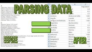 How to Parse Data in Excel Using Various Functions
