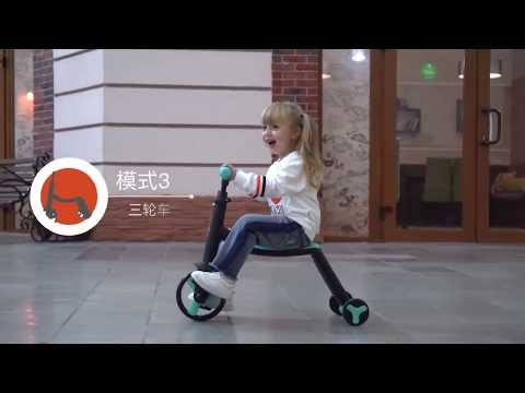 Детский трёхколёсный самокат беговел велосипед Nadle 3 в 1