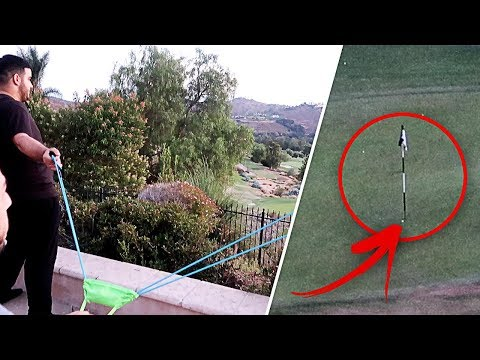 CRAZY GOLF BALL SLINGSHOT!! (HOLE IN ONE) | FaZe Rug