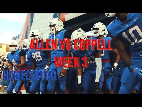 Allen Eagles Vs Coppell Cowboys Highlights - Week 3 HOMECOMING (Allen, TX 6AD1 High School Football)