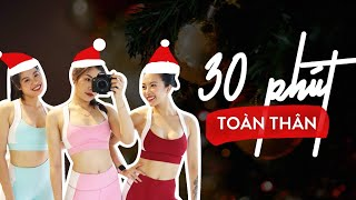 Bài tập toàn thân 30 phút không dụng cụ đốt 400 calories (All level) ♡ Hana Giang Anh