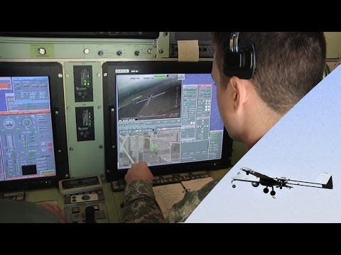 RQ-7B Shadow UAV In Action – Takeoff & Landing, Ground Control Station.