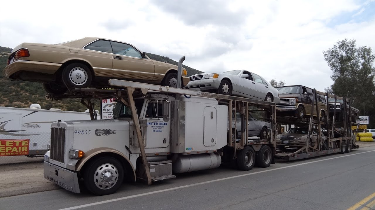 Full Classic Car Hauler Delivery Video Euro Mercedes see Cars ...