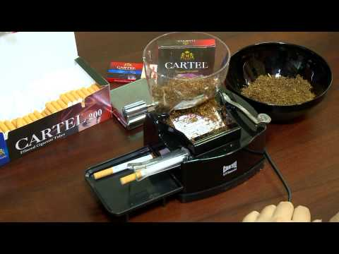 M TOBACCO Ltd. - Cigarette tube filling electrical machine with container CARTEL