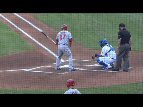 MIKE TROUT - LONGEST HOME RUN HIT IN 2014 - 489 FEET - 6.27.14 AT KANSAS CITY