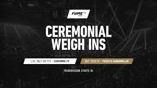 FAME MMA UK Weigh-Ins