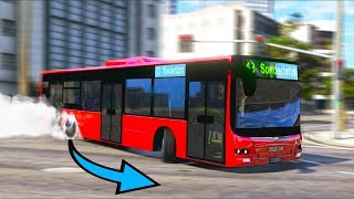 I drifted this bus in the city... Cops were MAD!! (GTA 5 Mods - Evade Gameplay)