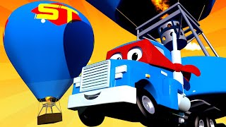 The HOT AIR BALLOON TRUCK - Carl the Super Truck in Car City Carl the Super Truck - Trucks cartoons