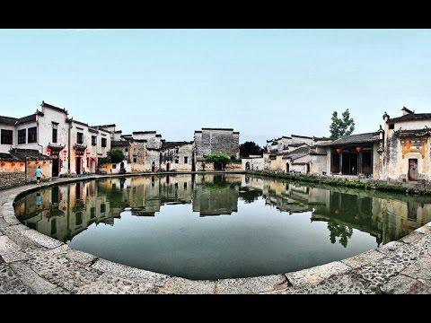 Pueblo acuático Xidi, pueblo acuático Hongcun, lago Chaohu e isla Laoshan