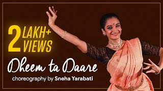 Dheem ta Dare - Bharatnatyam Dance by Sneha Yarabati