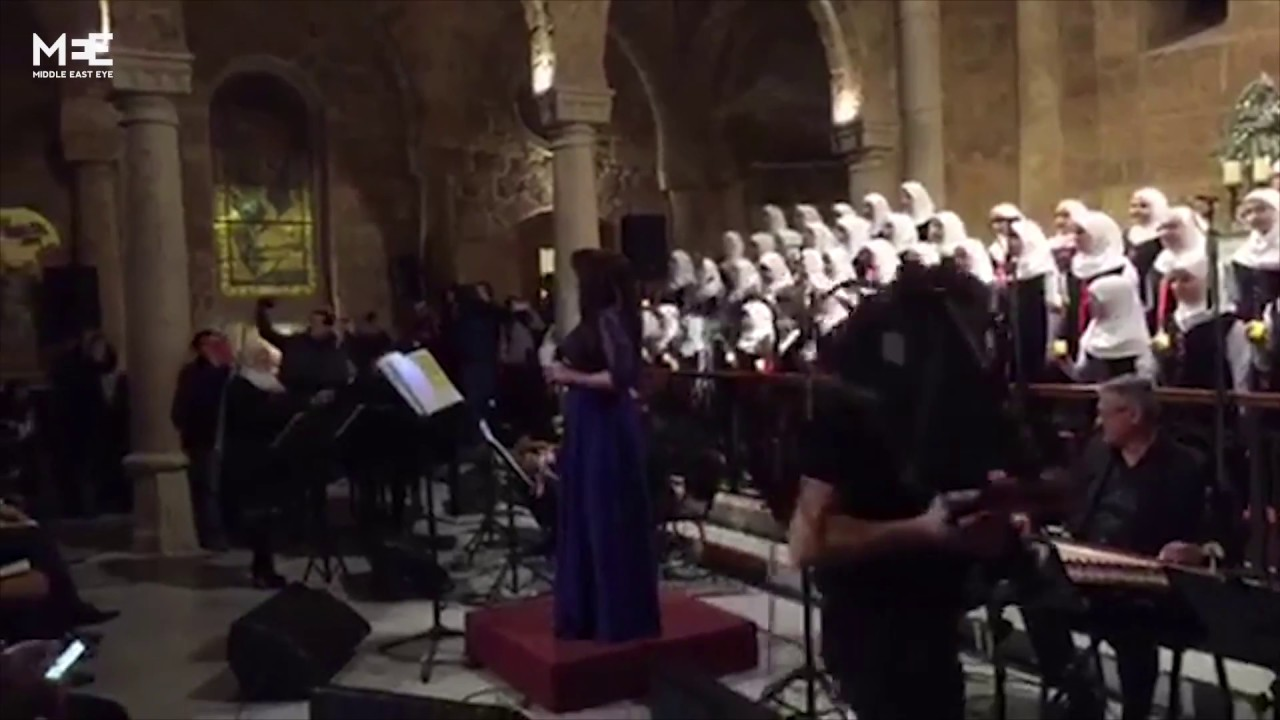Muslim Choir Girls Singing Arabic Christmas Carols Captures Hearts