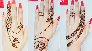 3 🔥Different style Mehndi Designs || Back Hand Mehndi Designs || Dollyarts ||
