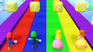 Super Mario Party - Minigames (Master CPU) - Mario vs Luigi vs Peach vs Daisy