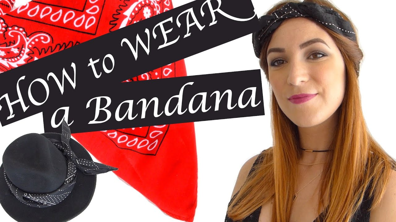8 fa ons de porter un bandana how to wear a bandana youtube. Black Bedroom Furniture Sets. Home Design Ideas