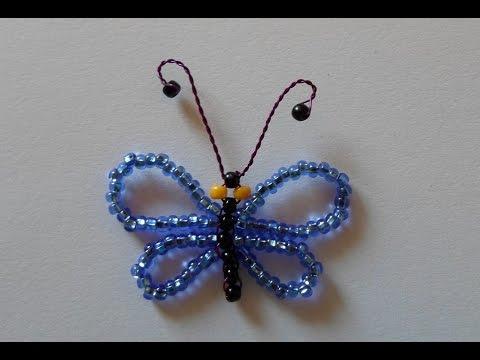 Бабочка из бисера! Как Сделать Бабочку из Бисера!