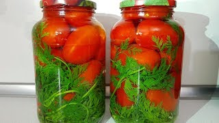 ПОМИДОРЫ НА ЗИМУ ,КОТОРЫЕ ВЫ ПОЛЮБИТЕ С ПЕРВОЙ БАНКИ!!!Помидоры с Морковной Ботвой!!!