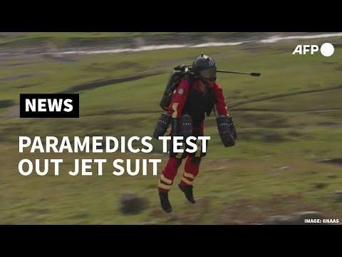 Flying doctors: UK air ambulance tests paramedic jet suit   AFP