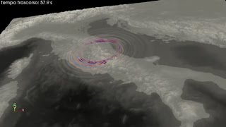 Terremoto, animazione 3d dell'INGV: ecco come si è propagata la scossa