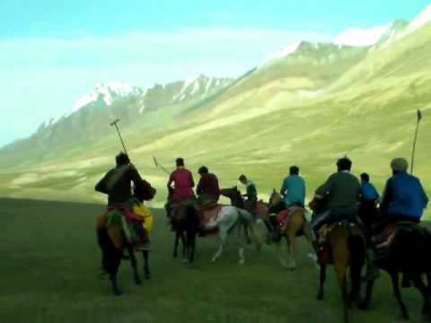 polo match played at Boroghol chitral near quramber lake