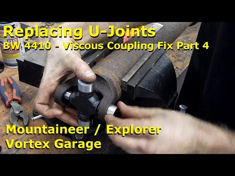Replacing Driveshaft U-Joints - Mountaineer - Viscous Coupling Repair Pt 4 - Vortex Garage Ep. 15