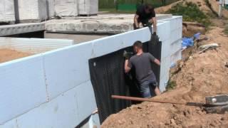 видео Профилированная гидроизоляционная мембрана