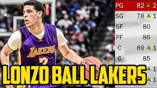 LONZO BALL 2018 LOS ANGELES LAKERS! NBA 2K17 My League