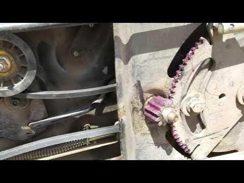 John Deere L120 Drive Belt Repair