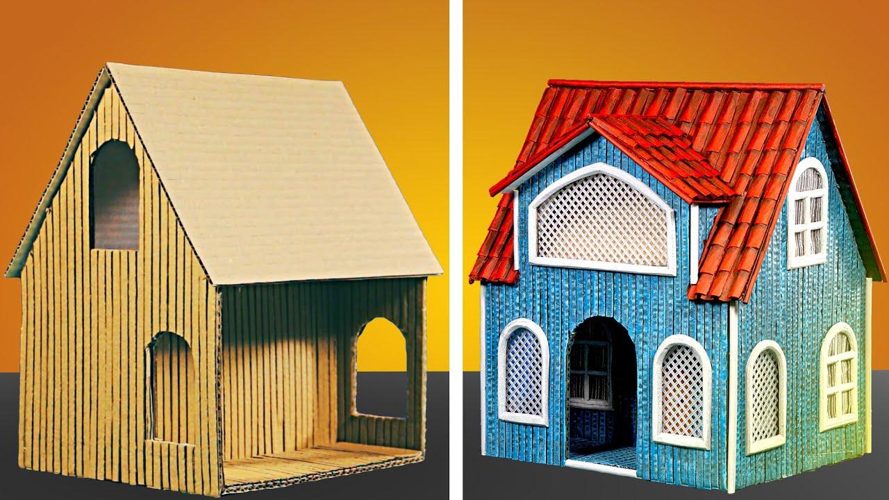 DIY Cardboard Cottage [ASMR]