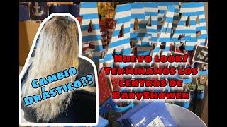 Vlog: NUEVO Cabello! / Terminamos los centros del BabyShower